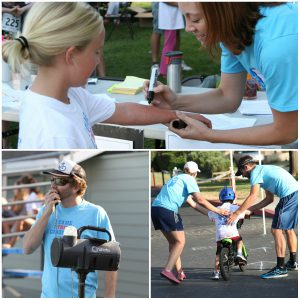 Volunteers helping at the 2015 Arden Park Youth Triathlon