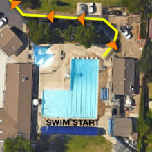 Arden Park Youth Triathlon Swim Course