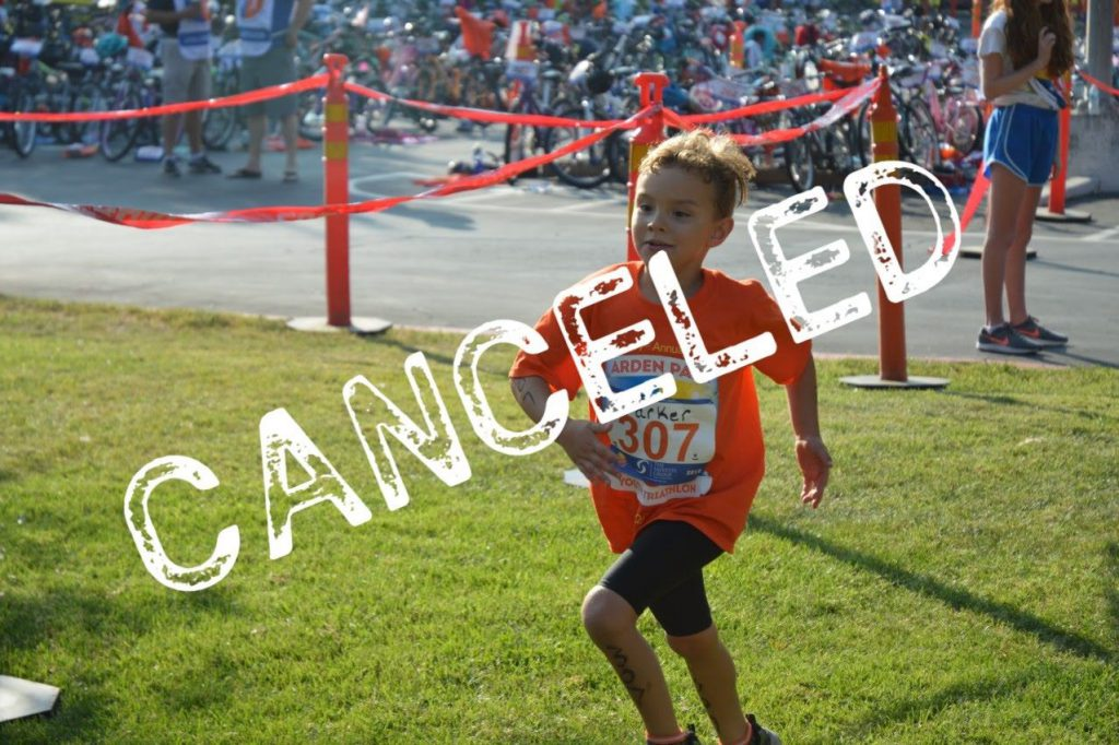 The 2019 Arden Park Youth Triathlon has been canceled.